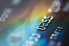 Macro of credit card Royalty Free Stock Photography