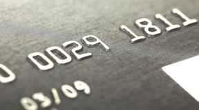 Macro of credit card numbers Royalty Free Stock Image