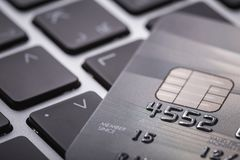 Credit card. Selective focus. For financial, Sale-Buy or busines Royalty Free Stock Image