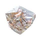 Macro cristalina colorida asombrosa del primer del racimo de Diamond Quartz Rainbow Flame Blue Aqua Aura aislada en el fondo blan Imágenes de archivo libres de regalías