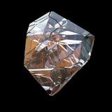 Macro cristalina colorida asombrosa del primer del racimo de Diamond Quartz Rainbow Flame Blue Aqua Aura aislada en fondo negro E Fotos de archivo