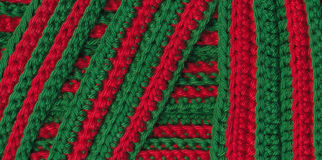 Macro crochet stripes Stock Images