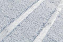 Macro of cross country skiing  tracks Royalty Free Stock Photography