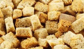 Macro of crouton. (closeup, detail Royalty Free Stock Image