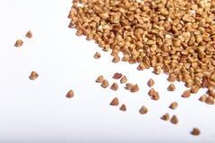 Macro cruda del primo piano del grano saraceno Immagini Stock Libere da Diritti