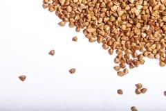 Macro cruda del primo piano del grano saraceno Immagini Stock