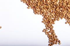 Macro cruda del primo piano del grano saraceno Fotografie Stock Libere da Diritti