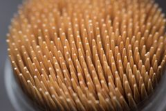 Macro cure-dents en bois Image stock