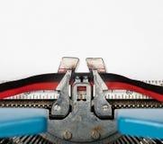 Macro détail du type de machine à écrire électrique avec le ruban Images stock