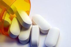 Macro d'un récipient de pilules Photo libre de droits