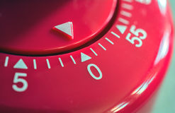 Macro d'une minuterie d'oeufs de cuisine - minutes 0 - 1 heure Images stock