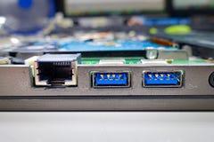 Macro d'USB 3 Photographie stock libre de droits