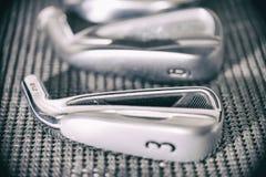 Macro da cabeça de clube do golfe Imagem de Stock