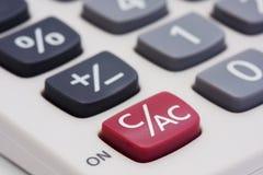 Macro da calculadora Imagem de Stock Royalty Free