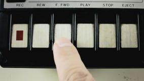 Macro da cassete áudio todas as chaves filme