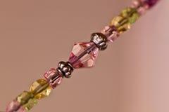 Macro da corda de grânulos Fotos de Stock Royalty Free