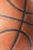 Macro da esfera do basquetebol Imagens de Stock Royalty Free