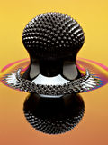 Macro da estrutura de Ferrofluid induzido por um ímã do neodímio foto de stock