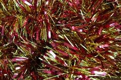 Macro da festão do ouropel Foto de Stock