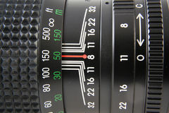 Macro da lente de câmera fotografia de stock royalty free