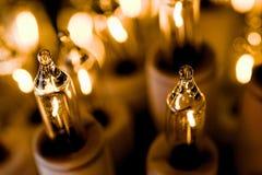 Macro da luz de Natal Imagens de Stock Royalty Free