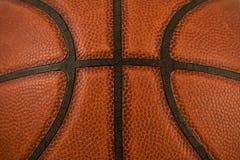 Macro da textura do basquetebol Foto de Stock