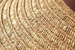 Macro da textura do Weave do chapéu Fotografia de Stock