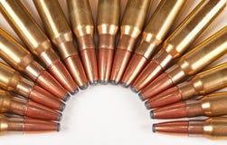 Macro de balas do rifle Fotografia de Stock