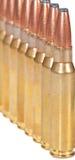 Macro de balas do rifle em uma fileira Fotografia de Stock
