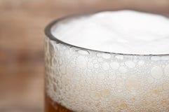 Macro de bière Photographie stock
