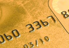 Macro de carte de crédit photos stock