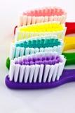 Macro de cepillos de dientes Imágenes de archivo libres de regalías