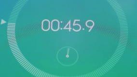 Macro de chronomètre de Digital illustration de vecteur