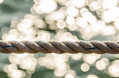 Macro de corde Image libre de droits