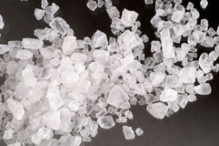 Macro de cristais de sal do mar Fotografia de Stock Royalty Free