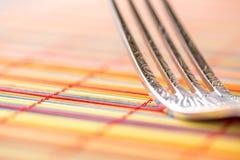 Macro de fourchette horizontal Images libres de droits