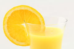 Macro de jus d'orange Image libre de droits