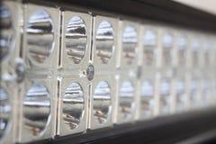 Macro de la barra ligera del LED imagen de archivo libre de regalías