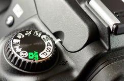 Macro de la cámara negra de DSLR Fotografía de archivo