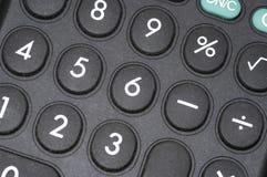 Macro de la calculadora Foto de archivo