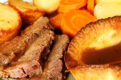 Macro de la comida de la carne de vaca de carne asada Imagenes de archivo