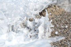Macro de la espuma del mar Imagen de archivo