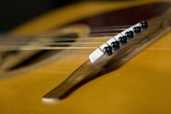 Macro de la guitarra Fotografía de archivo libre de regalías