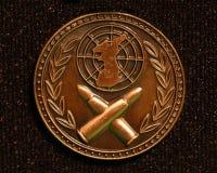 Macro de la medalla imagenes de archivo