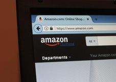 Macro de la página del sitio web del Amazonas fotos de archivo libres de regalías