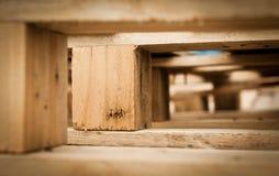 Macro de la palette en bois Photographie stock libre de droits