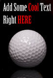 Macro de la pelota de golf Imagenes de archivo