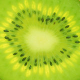 Macro de la rebanada del kiwi Foto de archivo