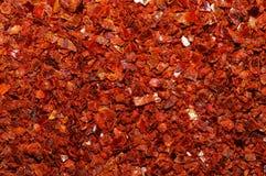 Macro de la rutina de la pimienta roja Imagen de archivo libre de regalías