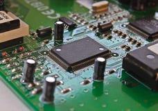 Macro de la tarjeta de circuitos impresos Foto de archivo